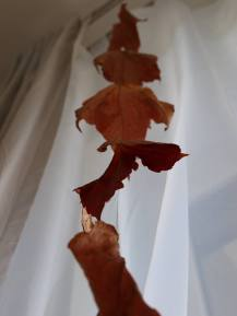 rote Weinlaubkette