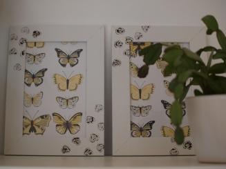 IKEA Rahmen mit Schmetterlingsbilder